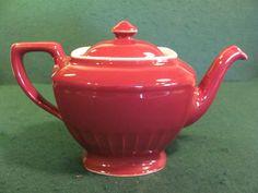 Vintage Halls Maroon Rectangular Shaped Teapot