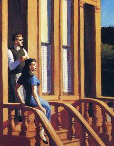 """""""Sunlight on Brownstones"""" (detail), 1956, Edward Hopper."""