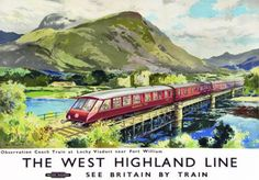 TU27-Vintage-West-Highland-Line-Fort-William-Travel-Railway-Poster-A3-A2