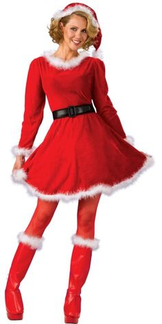 Ditch the boots and you could definitely rock a Christmas-themed 5k or half marathon in this cute Mrs. Santa dress!  Order up a size if you need to add layers for warmth underneath.