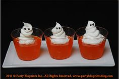 whipped cream and orange jello! #halloweendessert #halloweenjello