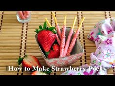 uTry.it: Homemade Strawberry Pocky 自家製草莓百力滋 with Video Tutorial