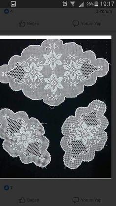 Crochet Books, Crochet Art, Filet Crochet, Crochet Doilies, Crochet Stitches, Crochet Placemat Patterns, Holiday Crochet Patterns, Crochet Numbers, Cross Stitch Baby