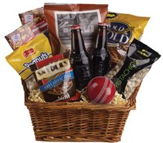 """Buy """"Cricket Lover"""" for $129.95. Peanuts, Nuts, Snack Items, Beer And Even A Cricket Ball Are Teamed Up In This Nibbles Basket. The Perfect Gift Forthe Male In Your Family! Alcohol Delivery Is Subject To State Liquor Laws. You Must Be 18 Years Or Older To Order Or Receive Alcohol. Other Licensing Or Delivery Restrictions May Apply In Some States. Gift Basket Items Are Subject To Availability, If The Pictured Items Are Unavailable, They Will Be Substituted With Similar Items To The Same…"""