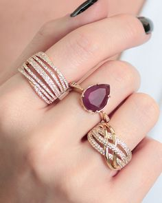 Diamond Rings, Diamond Cuts, Emerald Cut Diamonds, Ear Rings, Ring Necklace, Bling Bling, Jewlery, Fox, Fashion Jewelry
