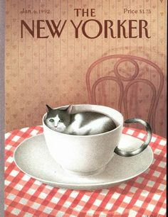 The New Yorker: Jan 06, 1992 | Gürbüz Dogan Eksioglu.  Tail through the cup used as handle...clever idea.