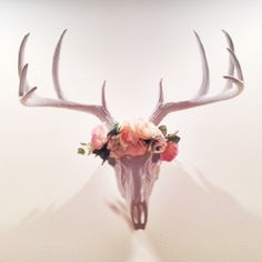 We are loving the way that one of our clients has used our WFT white deer skull to decorate her space! We are loving the flower headband, too! Thanks for sharing, Camille!