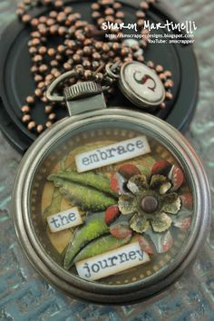 Love this altered TH pocket watch <3 by Sharon Martinelli