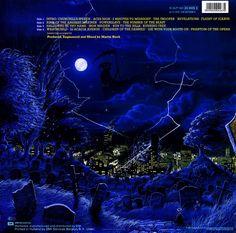 "Iron Maiden ""Live After Death"" EMI Records  1C 2LP 162 12"" 2 LP Set Vinyl Record Holland Pressing (1985) Album cover Art by Derek Riggs (back cover)"