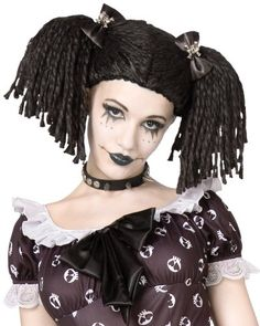Palamon - Gothic Rag Doll Wig - One-Size - Click image twice for more info - See a larger selection of wigs at http://costumeriver.com/product-category/wigs/- Halloween, events, holiday , halloween ideas, artificial hair, scary wigs, funny wigs, gift ideas