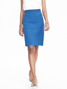 stitch fix stylist: Yes to the blue pencil skirt.  Cotton & rayon blend, nice!