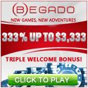 New 30 free spins bonus code from Begado Casino - CINCO plus a generous Welcome Package!