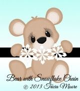 Bear with Snowflake Chain (freebie)