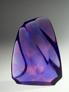 Peter Bremers Icebergs & Paraphernalia 2011 Kiln-cast Glass 17 in x 12 in x 4 in LewAllen Galleries Art Of Glass, Stained Glass Art, Cast Glass, Glass Ceramic, Modern Glass, Purple Glass, Shades Of Purple, Glass Design, Hand Blown Glass
