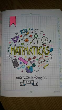 Cuaderno matemáticas Math Notebook
