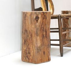 Redhead Tree Stump Table Furniture End Table by realwoodworks1, $349.00  Overpriced - but the idea we were thinking about for extra in lobby