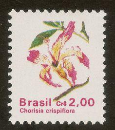Selos: Brazilian Flora. Chorisia crispiflora (Brasil) (Flora) Mi:BR 2388,Yt:BR 1994,RHM:BR 677