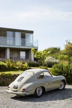 Nick's passion for #midcentury design extends to #cars. His 1959 #Porsche 356A #coupe is parked in the driveway.