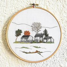 @delphil__ #paysage #landscape #firtree #creuse #limousin #pinetree #sapin #esyfinds #overwork #hoopembroidery #hoopart #draw #dessin #handembroidery #embroidery #embroideryart #broderie #broderiemain #handmade #faitmain #brodeuse #embroidered #bordado #madeinfrance #modernembroidery