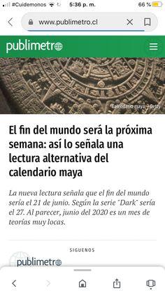 Tengo mieo End Of The World, Calendar, Reading