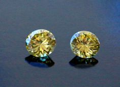 Vivid Fancy Yellow - Matched Pair - Absolutely amazing, very rare and gaining popularity world wide! Yellow Diamonds, Stud Earrings, Pairs, Fancy, Hair Styles, Amazing, Blog, Beautiful, Jewelry