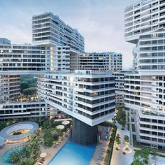 The winner of the World Building of the Year 2015 title is The Interlace by Ole Scheeren, a series of apartment blocks stacked diagonally to frame terraces