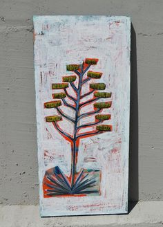 Original Painting Century Plant Agave by JohannaNelsonStudio