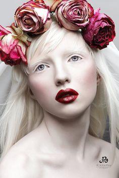 Flowers in her hair....Nastya Zhidkova