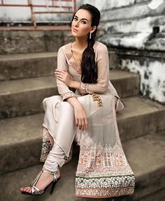 Latest Party Wears With Lavishing Embroidery Work For Special Nights By Threads and Motifs