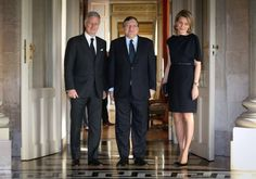 King Philippe and Queen Mathilde recieved European Commision President Jose Manuel Barroso.
