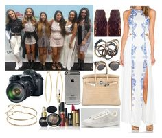 """Gibraltar Music Festival with Little Mix"" by zandramalik ❤ liked on Polyvore featuring The Jetset Diaries, adidas Originals, Christian Dior, Iosselliani, ASOS, Pupa, Hermès, Brooks Brothers and Eos"