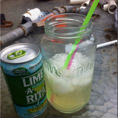mason jar + lime-a-rita = <3