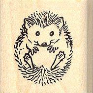 hedgehog rubber stamps | 7821 Small Hedgehog Rubber Stamp