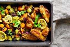 Baked Parmesan Pork Chops, Weeknight Meals, Easy Meals, Pesto Salmon, Sheet Pan Suppers, Asparagus Recipe, Side Salad, Tandoori Chicken, The Help