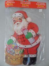 Vintage Denmark Georg Moldow Santa Claus Advent Calendar Santa's Gifts NOS Rare