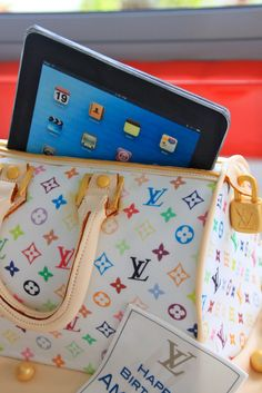 Celebrate with Cake!: Louis Vuitton Bag with iPad Cake