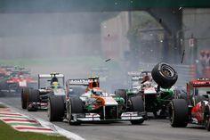 Adrian Sutil & Paul Di Resta Sahara Force India  Esteban Gutierrez Sauber F1 Team