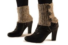 Spats Boot Cuffs Ankle Warmers Crochet Spats Black by sailorgina, $37.00