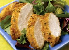 Parmeson crusted chicken! Sooo easy to make and sooo delicious!! Believe me!