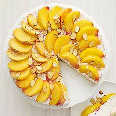 peach melba ice cream cake