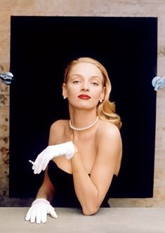 Uma Thurman by Annie Leibovitz