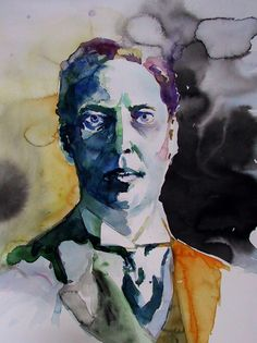 """ Wassily Kandinski, Self Portrait "" Yes, it's Kandinsky, but I don't think it's… Wassily Kandinsky, Franz Marc, Self Portrait Artists, Collaborative Art, Art Abstrait, Art Moderne, Russian Art, Watercolor Portraits, Klimt"
