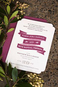 Rustic Bistro Wedding Invitations   Evermine Blog   www.evermine.com #marsala #coty2015