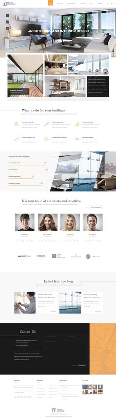 Teclus PSD template is made for #architecture and #interior design companies. This template is ideal for architects, furniture designers, photographers, and those who need an easy, attractive and effective way to share their work with clients. #psdtemplate