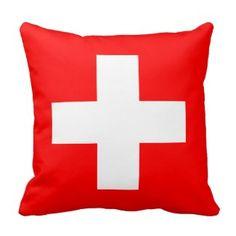 Editable Hintergrund, die Flagge von der Schweiz Zierkissen