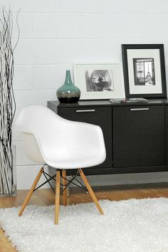 2 chairs for $159... Pascal Plastic Mid-Century Modern Shell Chair - White - Set of 2 by W.I. Modern Furniture on @HauteLook