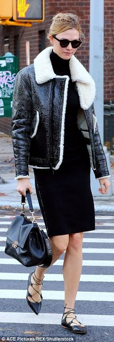 Keep up with Karlie in Coach #DailyMail Click 'Visit' to buy now
