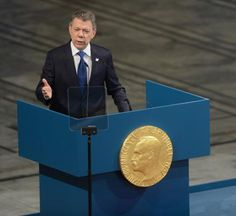 Colombian president Juan Manuel Santos attends the Nobel Peace Prize Award Ceremony at City Hall in Oslo on December 10,… – @UPI Photos