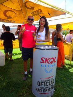 Degustação da Skol Ultra no evento Amazon Sliderra, em Belém.