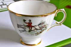 Vintage Royal Tara Ireland Fox Hunt Scene Bone China Cup $14.50
